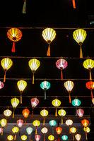 Lanterns of colorful summer festival
