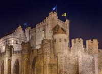 Gravensteen castle in Gent - Belgium