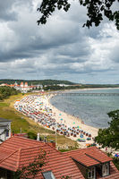 The lively beach of Binz in summer 2020, Rügen, Mecklenburg-Vorpommern, Germany