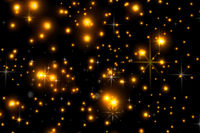 Animated stars on a black background. The starry sky.