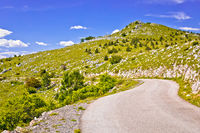 Velebit mountain landscape and road view, Northern Velebit