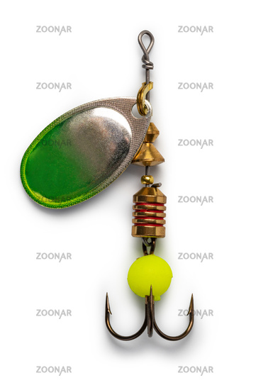 Fishing lure on white