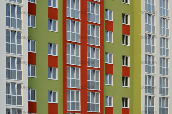 Fragment of a new multi-storey residential building