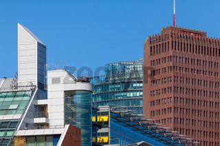 Berliner Wirtschaft, Fassaden Potsdamer Platz, Wirtschaftspolitik, Business Berlin