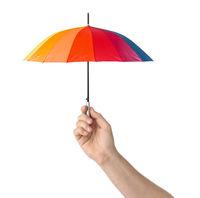 Hand with small umbrella