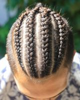 men's braided hairstyle, man s head with hairstyle