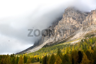 Autumn at Passo Falzarego, Dolomites, Italian Alps