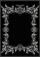 Silver border with decor in the Victorian style