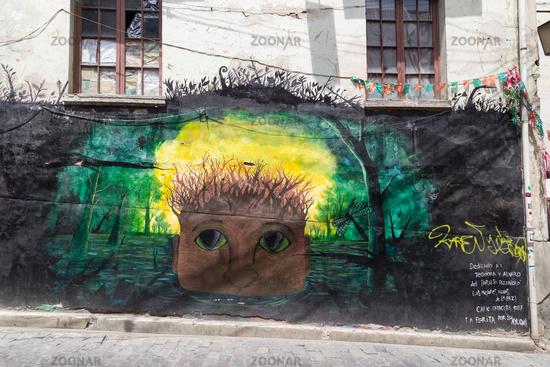 Graffiti in the streets of La Paz, Bolivia
