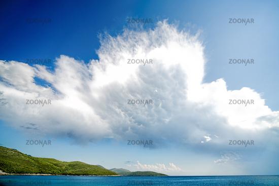 Fragment of beach in Montenegro.