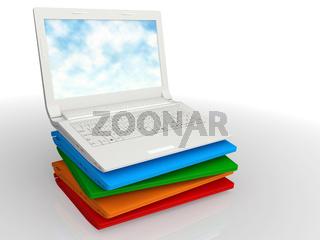 Set modern notebook