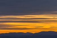 sunset with mountains