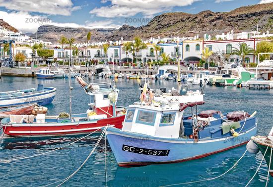 Puerto de Mogan on the Canary Island Gran Canaria