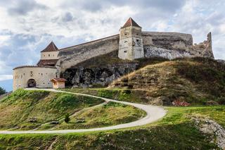 Medieval fortress in Rasnov, Transylvania, Brasov, Romania