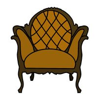 Illustration of an antique armchair