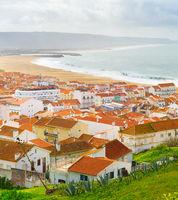 Skyline Nazare surfing ocean Portugal
