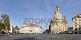 Frauenkirche, Neumarkt, Dresden, Sachsen, Deutschland, Europa