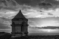 old tower with sunset, Monsaraz, Alentejo, Portugal