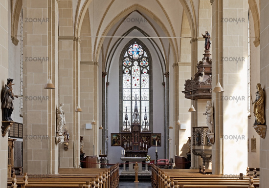 Abbey church of Kamp monastery, inside view, Kamp Lintfort, Lower Rhine, Ruhr area, Germamy, Europe