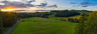 Panorama Sunset In Rural Scotland