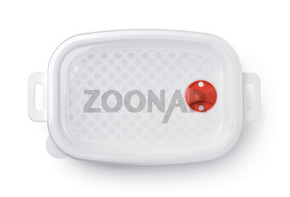 Plastic storage food container with valve