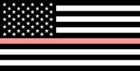thin pink line flag