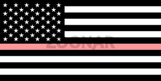 thin pink line flag