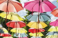 Bunte Schirme | Colorful umbrellas