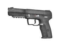 automatic pistol with magazine
