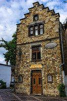 An old historic stone house in Ahrweiler in Germany