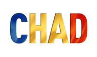 Chadian flag text font