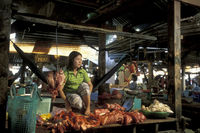 CAMBODIA PHNOM PENH CENTRAL MARKET FOOD