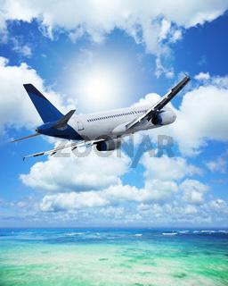 Air travel concept. Vertical composition.