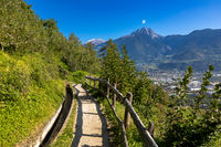 On the Marling Waalweg path above Meran, South Tyrol