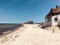 thatched traditional holiday homes on the German Baltic Sea coast near Heligenhafen