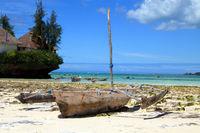 Boats on the beach of Zanzibar