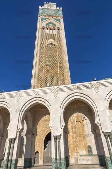 Minaret of the Mosque Hassan II in Casablanca
