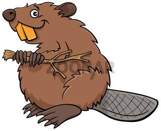 cartoon beaver comic animal character