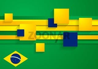 Tech vector background in Brazilian colors