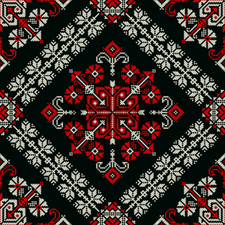 Romanian traditional pattern 172