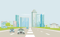 Expressways in a big city