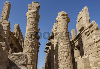 Columns of the The Great Hypostyle Hall, located within the Karnak Temple Complex