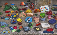 Painted stones - The creativity of childrens
