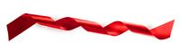 Red ribbon tape isolated on white