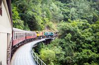 Historic Kuranda Scenic Railway in Australia