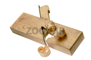 Wood chips on a ledge slicer