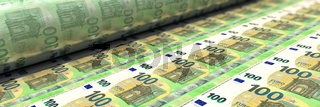 100 Euro-Scheine werden gedruckt