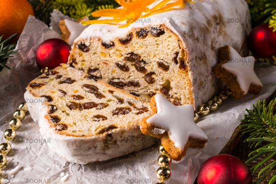 Christmas Stollen with orange julienne