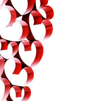 Linked ribbon hearts
