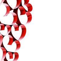 Linked ribbon hearts